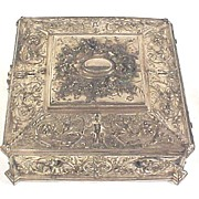 Elaborate Silver Jewel Box