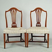 Mahogany Chairs Matching Pair Early 1800's American
