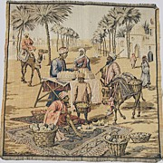 Antique Tapestry- Persian Merchants