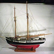 19th Century Two Mast Schooner Model