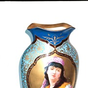 Vase Fine Porcelain Portrait of Gypsy Woman