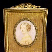 Miniature Painting Portrait Ivory
