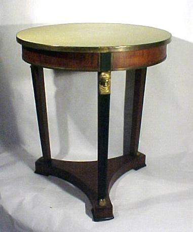 Classical Center Table with Bronze Dore Mounts