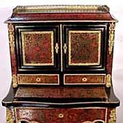 Ladies Desk Tortoise Shell  &  Brass Inlay Gilt Brass Mounts Napoleon III