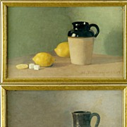 Paintings Still Life Fruit  Signed Hannaford 1909 Pair