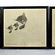 Cat Prints Chessy Series Set of 3 Chesapeak & Ohio Railroad Advertising