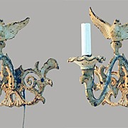 Wall Sconces Cast Iron Full Body Eagle