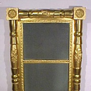 Early 2 Part Sheraton Mirror Gold Gilt