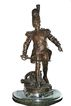 "Antique Bronze Sculpture The Grenadier Signed  Madrassi ,Impressive 36"" Tall"