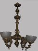 Antique  Victorian 4 Light Gas Chandelier