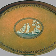 SALE 19th Century French Tole Painted Tray Classical