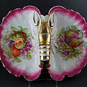 Lobster Bowl Fruit & Flowers Fine German Porcelain