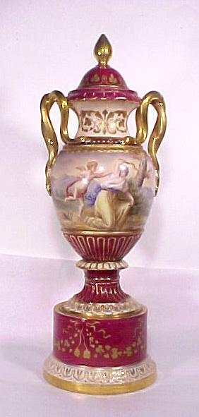 Royal Vienna Urn Hand Painted Classical Design