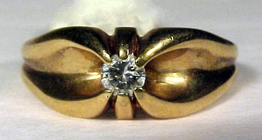 Antique 14K Gold & Diamond Ring