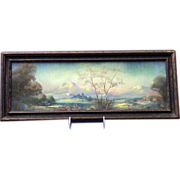 Oil Pastel Painting- Early California Artist Arthur E. Gompel- Desert Scene
