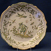 18th Century French Faience Plate- Moustiers
