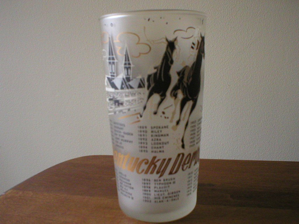 Kentucky Derby Glass  1960