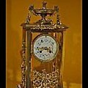 Superb 4 Glass/ Crystal Regulator Bracket Clock