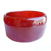 SOLD Wide Cranberry Bakelite Bracelet