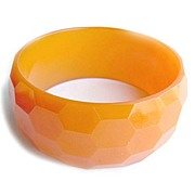 SOLD Butterscotch Hexagonal Faceted Bakelite Bracelet