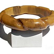 SALE Marbled Butterscotch Bakelite Rope Bracelet