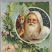 Raphael Tuck Belsnickle Santa in White Suit