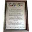 Vintage &quot;Mother&quot; Motto in Period Frame  Artist Sgnd MAH