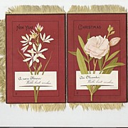 Fantastic Christmas Card with  Satin Fringe Fantastic Book Style