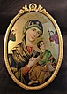 Ormolu Oval Frame Madona with Child  German