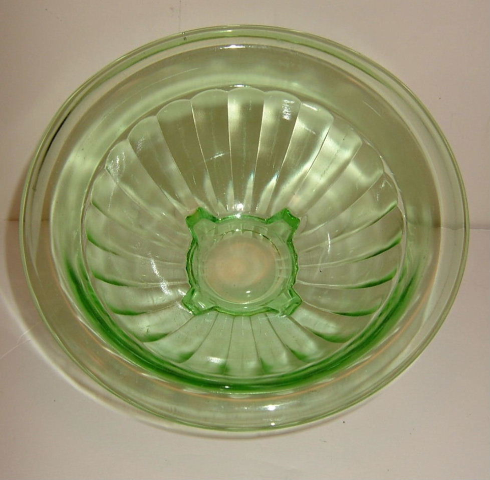 Anchor Hocking Green Depression Small Kitchen Bowl