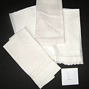 Four Piece Victorian Hand Show Towels  group #1