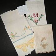 Four Piece Victorian Hand Show Towels  group #2