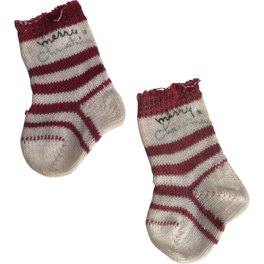 1950s Cotton Christmas Stocking  Tiny - Small