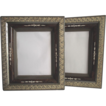 1870s Deep Walnut Mirrored Frames with Sponge Decoration