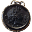 Victorian Watch Fob Gold Filled Root Beer Glass Cameo