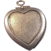 Sterling Puffy Heart LOCKET Charm  Perfect for Engraving