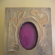 Arts and Crafts Handmade Punched Brass Frame