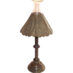 Arts and Crafts Candle Stick with Punched Brass Shade   TDF!