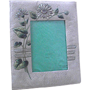 Embossed Paper Picture Frame with Daisies   Victorian