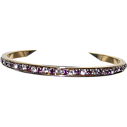 Bangle Purple and White Rhine Stones