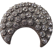 Clear Paste Stone 1920�s Crescent Brooch