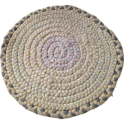 Vintage Doll House Cotton Round Braided Rug