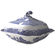 Blue Willow Covered  Vegetable Dish John Steventon C.1920