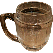 Depression Era Clear Barrel Mug Toothpick Holder