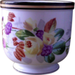 Lovely Floral Hand Painted Cache� Pot