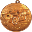 Large Gold Filled Locket  Automobile w/ Stones as Head Lights