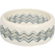 5 Plastic Stacking Bangle Bracelet Zig Zag Saw Pattern