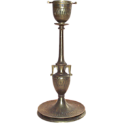 English 1869 Egyptian Revival Period Bronze Candle Stick