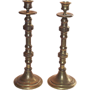 Pair Brass Candle Sticks  Tall and Very Nice
