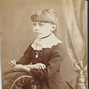 Real Photo Circa 1880s Pre Teen Girl High Fashion Clothing and Jewelry
